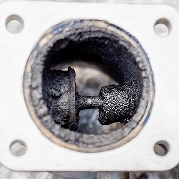 Stav EGR ventilu před čištěním